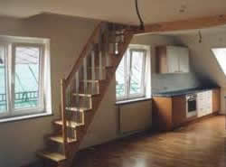 Loft Conversion stairs by Woods Builders & Carpentry service in Leitrim